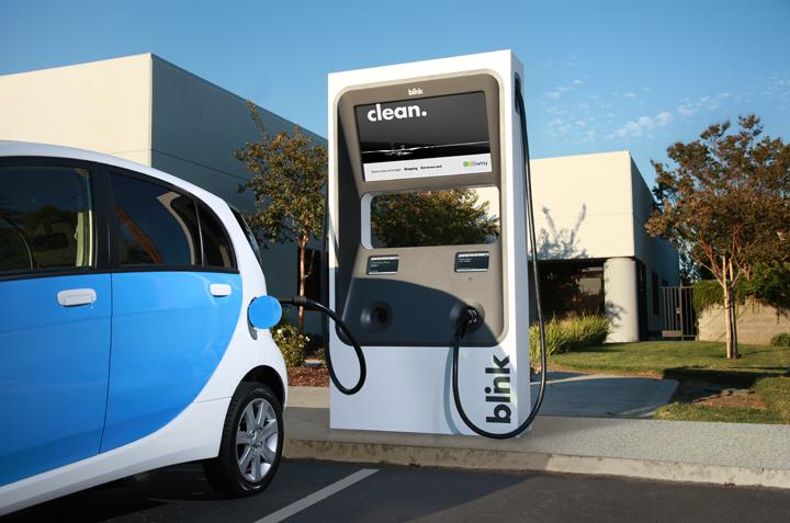 blink ev charging station for ecotality