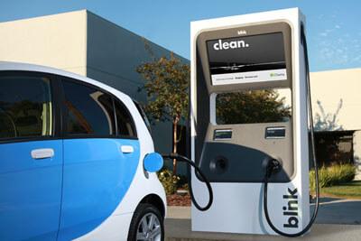 blink ev charging station
